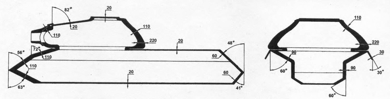Схема бронирования танка ИС-3