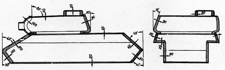 Схема бронирования танка ИС-2