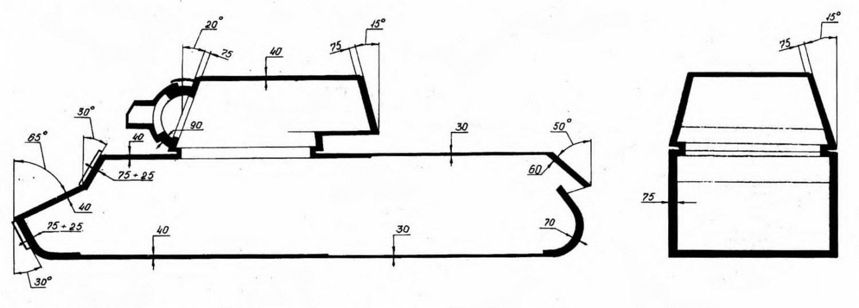 Схема бронирования танка кв 1 образца